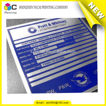 promotional waterproof polyester panel labels