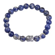 Sodalite 8MM Gemstone Buddhism Prayer Beads Bracelets