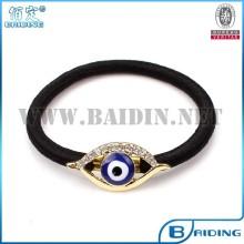 rhinestone plated metal turkish evil eye accessory hair and jewelry