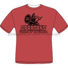 Hot Selling Customized algodão homens impresso T-shirt