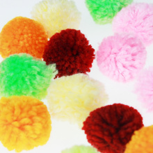 Craft yarn pompom color assorted