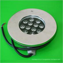 Luz nova da associação do diodo emissor de luz do aço inoxidável 12W 12V