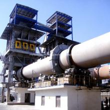 Horno rotatorio utilizado en la planta de cemento