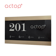 2020 Новая Дверная табличка Пользовательский Логотип Номер Стекло Matel Пластиковая Пластина