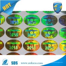 Etiqueta engomada de encargo del holograma del 3D, etiqueta engomada anti-falsificación del laser