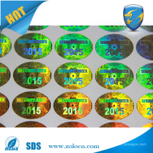 3D custom hologram sticker , laser anti-counterfeit sticker custom design