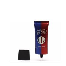 25ml aluminum cosmetic BB cream plastic poster tube with super oval cap