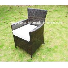 Outdoor / Wicker Cadeira de jantar ajustada do Rattan