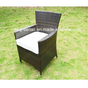 Outdoor / Wicker Cadeira de jantar ajustada do Rattan