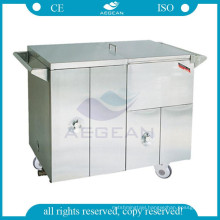 AG-SS035D stainless steel warmer food put medical dental clinic trolley