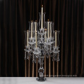 3 Arms Crystal Candle Holder Glass Candlestick for Home Party Decoration