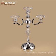 titular decorativo de la vela de la alta calidad del hogar con el material del hierro