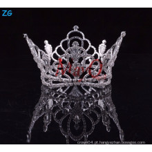 Atacado cristal bridal acessórios de cabelo coroas rodada completa rodada