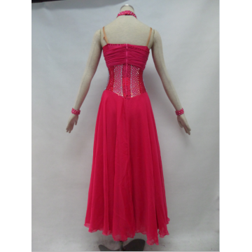 Robes de danse de salon rouge