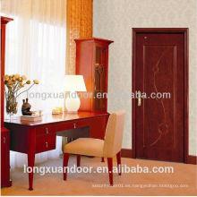 Suministro de diseño popular puerta de madera sólida interior