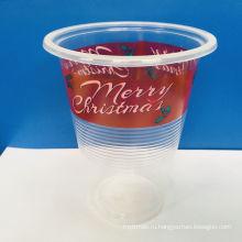 450 мл пластиковая чашка pp чай с молоком с принтом