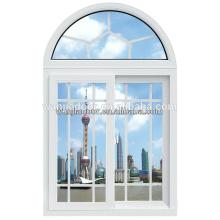Venta caliente pvc interior ventana deslizante / arco superior ventanas / foshan wanjia marca