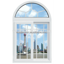venda quente pvc interior janela de correr / arch top windows / foshan wanjia marca