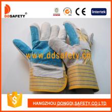 Luvas de venda quente vaca dividida, luvas de couro (dcc323)