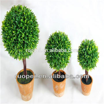 Yiwu China New design high quality artificial bonsai ball and trees with pot wholesale for indoor garden decoration and wedding