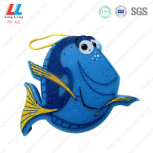 fish 3D pretty bath sponge item