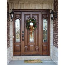 China Supplier Home Designes Puertas de madera maciza, puertas de madera de la casa moderna, puertas sólidas de lujo
