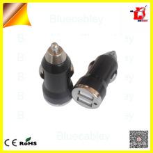 Universal 5V1A double chargeur de voiture usb bullet pour téléphone mobile