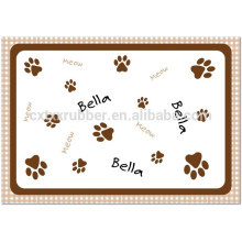 printing cat feeding mat, cat ped mat