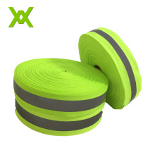 wholesale green reflective webbing tape safety reflective fabric tape