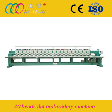 20 Head High Speed Flat Embroidery Machine