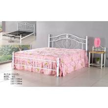 Белая мода Популярные Металлическая кровать (605 #)