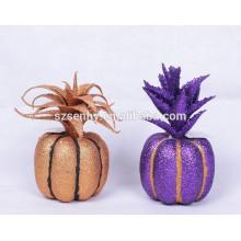 cesta de vime decoração de halloween iluminada no balde halloween