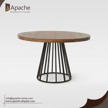 Good Quality for Multi-Material Display Rack Wooden Round Cafe Dessert Dining Table supply to Czech Republic Exporter