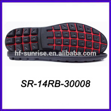 outdoor rubber outsole mens sports outsole red black rubber sole