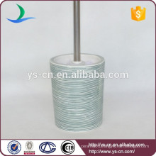 YSb50033-01-tbh Embossed porcelain toilet brush holder