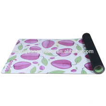 suede and natural tree rubber yoga mat with custom printing