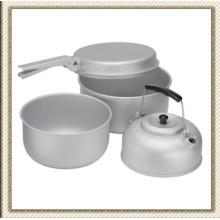Pique-nique en plein air Camping des casseroles en aluminium Set (CL2C-DT1915-4)