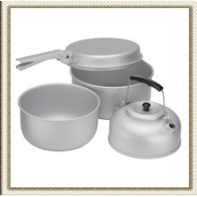 Outdoor Picnic Camping Aluminum Cookware Set (CL2C-DT1915-4)
