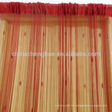 China proveedor india estilo cadena ready made cortinas de cocina