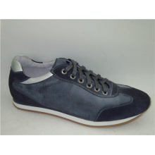 Marineblau Runde Toe Lace Schuhe