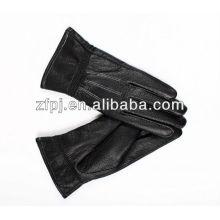 Nuevamente mens guantes calientes del invierno del cuero genuino de la manera