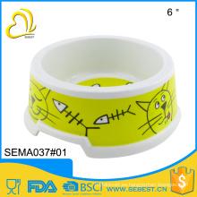 2016 nuevo diseño de plástico melamina gato tazón de productos para mascotas