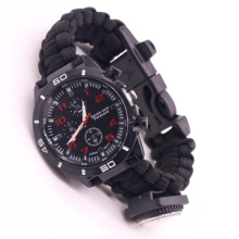 Paracord Survival Bracelet Watch Hiking Camping