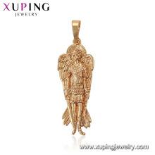 33628 xuping Deus com asas e armas figura estátua pingente de ouro desenhos