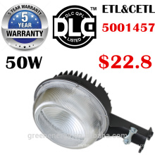 ETL DLC 5 años de garantía 125lm / w 30w 50w 70w LED Luz de calle Retrofit Amanece a Amanecer LED Lámpara de patio de granero