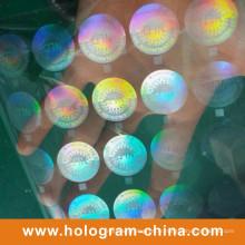 Feuille d'estampage à chaud à hologramme transparent