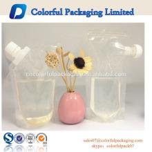 2015 Custom Made Keine Prinitng Klar trinken flüssigkeit verpackung plastiktüte