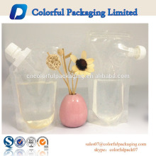 2015 Custom Made No Prinitng Clear drink liquid packaging plastic bag