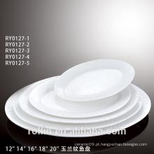 Jantar de porcelana de luxo novo design para dom e publicidade