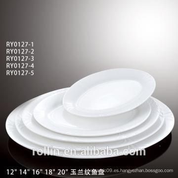 Juego de cena de lujo de la porcelana del nuevo diseño para el regalo y la publicidad